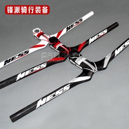 Wholesale-The new Italy NESS 3K ultra lightweight carbon fiber integrated Mountain Bike Handlebar straight together