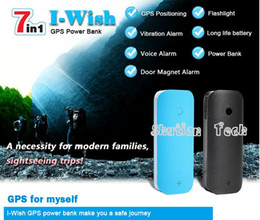 Wholesale Portable Position Tracker Power Bank Real Time Sound Vibration Alarm with LED Light Mini GPS Tracker V20