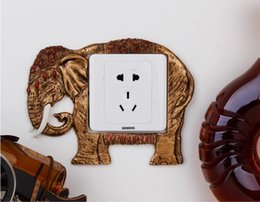 Wholesale Top Grade Decoration Resin Switch Cover Wall Stickers Retro Decorative Frame Home Decoration Fit cm Standard Switch With Lacework