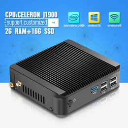 Wholesale In Stock Atom Mini Pc Desktop Computers Mini Pc Board X30 J1900 Celeron Quad Core G RAM G SSD Support Audio