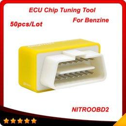 Wholesale 2016 New Arrival Plug and Drive NitroOBD2 Performance Chip Tuning Box for Benzine Cars DHL free