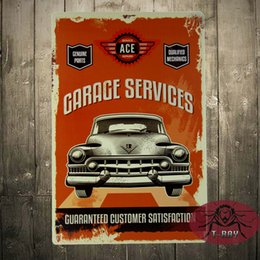 Wholesale GARAGE SERVICES Cuaranteed customer satisfaction Tin Sign Oil Street Rod Man Cave