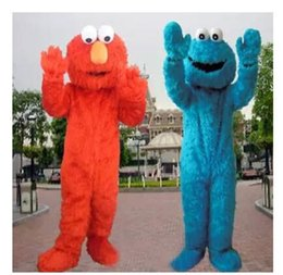 Red Elmo Sesame street Mascot Costume Halloween Costumes Chirstmas Party Adult Size Fancy Dress Free Shipping