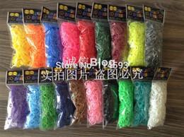 Caoutchouc pression à vendre-25colors bandes Kit silicone bandes de caoutchouc bonbons Loom Recharge caoutchouc colorés pour bracelets