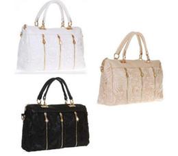 Gros-2015 nouveaux sacs à main mode pour femmes designers de la marque de haute qualité authentiques PU cuir filles hobo lumière blanche dentelle noire rose Sacs white laces wholesale deals à partir de lacets blancs gros fournisseurs