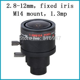 "2.8-12mm Fixed Iris cctv lenses for ip cameras, 1.3 mega pixel lens 1 2.7"" M14 mount for cctv camera"