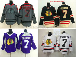 Factory Outlet, Best Chicago Blackhawks 7 Brent Seabrook Jersey Grey purple 2015 winter classic black white Ice Hockey Jersey on sale