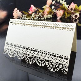 20 pcs Delicated Laser Cut Luxury Table Card Wedding Name Place Card Celebration Birthday Party Seats Decoration