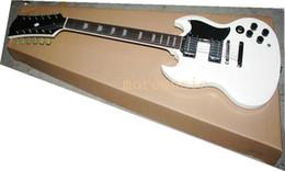 Haute Qualité Nouvelle Arrivée Custom Shop Blanc SG 12 cordes guitare électrique Livraison gratuite guitare usine Vente en gros à partir de cordes sg fournisseurs