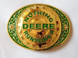 Wholesale Fashion Deere belt buckle with pewter finish suitable for cm wideth belt with continous stock