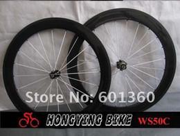 Wholesale Basalt braking surface wheel full Carbon Bike Wheel C white aero spoke