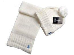 Wholesale Top Quality logo pony Cotton hat amp scarf fashion Cotton cap scarves warm winter Post head hats scarf