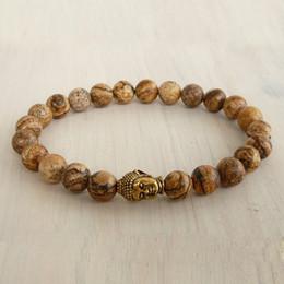 SN0231 Fashion Men`s Bracelet Buddha Wrap Bracelet Jasper Beaded Stretch Bracelet Black Onyx bracelet free shipping
