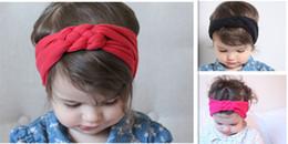 summer western girls headband Knit Knot Baby Girls Headband ,Little Girls Cotton twisted head wraps girls cute headband