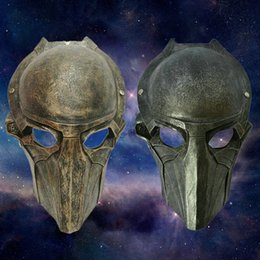 Wholesale Alien Halloween Horror Mask falcon falconer Predator party props resin gold silver colors