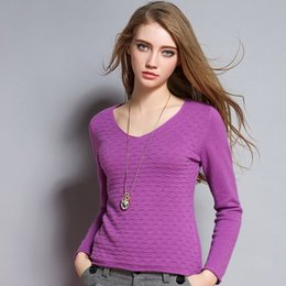 15 V-neck pure cashmere sweater women solid color basic pullover sweater slim all-match sweater crop sweater