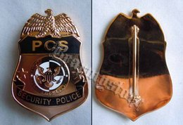 Wholesale light Empire American security police metal badge Puerto Rico large Badge
