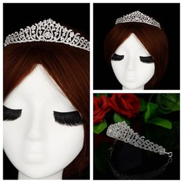 Wholesale Best Selling Princess Tiaras Hair Accessories For Bridal Head Wear Crystal Beaded Wedding Prom Evening Party Head Crowns Cheap