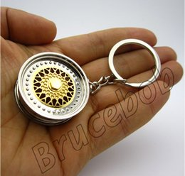 Wholesale BBS Wheel Rim Keychain Creative Accessories Hot Sale Auto Parts Disc Brake NOS Turbo Keyring Key Chain Ring Key Ring Keyfob