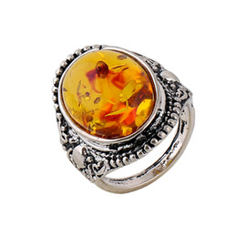 24pcs lot Charming Vintage Silver Resin Amber Hot Sale Free Shipping Amber Gemstone Natural Amber Jewelry