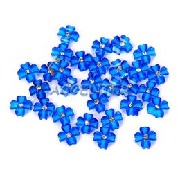 Free Shipping 3D Nail Art Acrylic Flower with Rhinestone 3D Nail Art Decoration Cellphone Decorations 100pcs bag