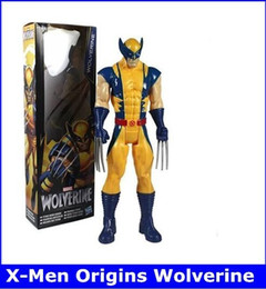 "Marvel Super Hero X-men Wolverine Iron Man PVC Action Figure Collectible Toy 12""30CM Retail Free Shipping"