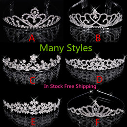 Wholesale Crowns Prom Jewelries Cheap Artificial Bridal Tiaras Brides Wedding Party Bridesmaid Hair Accessories Headpieces with For Sale