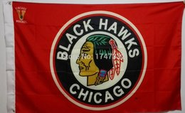 Chicago Blackhawks NHL National Hockey League Flag 3X5FT 150X90CM Banner brass metal holes
