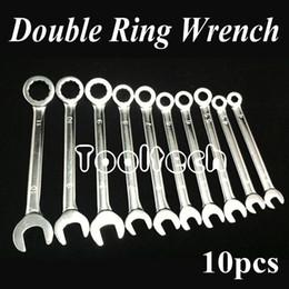Wholesale Freeshipping Metric sizes Chrome Vanadium Steel Ratchet Wheel Dual use Open Ring Spanner Combination Wrenches Set Tools Kit
