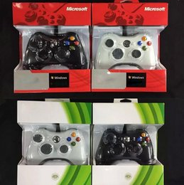 Wholesale 2015 xbox controller USB Wire cable PC game controllers joysticks XBOX360 Gamepad joystick with retail boxes for Laptop computer PC