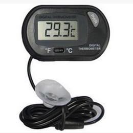 Wholesale 2016 new LCD Digital Fish Tank Aquarium Thermometer Temperature Water Terrarium Black Aquariums Aquariums Fish