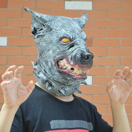 halloween mask latex Headgear scary masquerade masks party terror rubber animal cosplay toys horror dogs wolves People dress up props