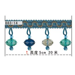 Wholesale Promotional Authentic upscale lace curtain accessories curtain beads Lian roll length m high CM