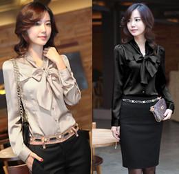 5 Colors Women Plus Size Butterfly Chiffon long Sleeve Blouses Fashion Ladies Girls Korean Slim OL Work Shirt Blouse Top Tees Jumper