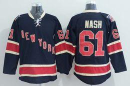 Wholesale Rangers Nash Blue Ice Hockey Wears Cheap Hockey Wears Uniform Rangers Mens Hockey Apparel New York Hockey Jerseys in stock