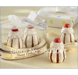 Wholesale Wedding Favor quot Sweet Celebrations quot Ceramic Banana Split Salt and Pepper Shakers