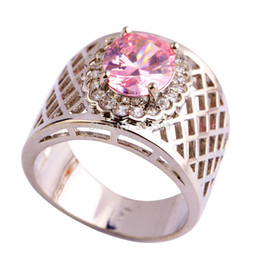 2015 Party Awesome Women Jewelry New Pink Sapphire Fashion 925 Silver Ring Size 7 8 9 10 11 Wholesale Free Shipping