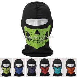 Wholesale Retail new Skullies Coolmax Skull Balaclava Outdoor Full Mask Cycling Protector Mask Motorcycle Helmet Liner