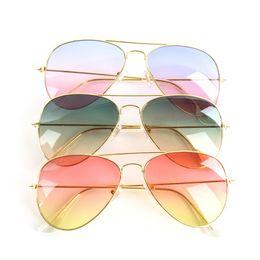 Wholesale-Vintage Unisex Metal Frame Mirror Gradient Sunglasses Eyeglasses Eyewear