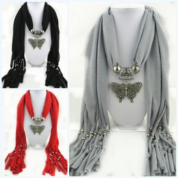 Wholesale Cheapest Price Beads Charms - Cheap price Pendant scarf colorful butterfly charm beads jewelry beads winter lady women's scarvf Pendant Jewelry Scarf Hot