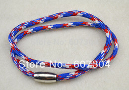 cord bracelet,fashion magnet mix color rope bracelet jewelry