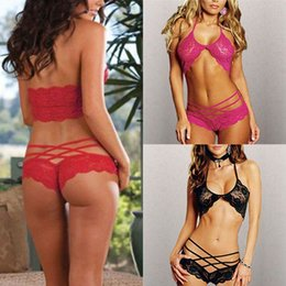 Wholesale Hot Sale Attract Women Sexy Lingerie Sleepwear G string Lace Underwear Colors New SL34