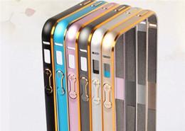 Aluminum Metal Alloy Bumper Frame Hippocampal Buckle Case For iPhone 5S 6 6S Plus
