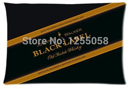 Wholesale Designer Johnnie Walker Black Label Pillow Case Cover X30 Inch Rectangle Pillowcases