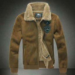 Fall-2015Men Flight jacket European version of the flight suit flight jacket large yards fur coat 8XL