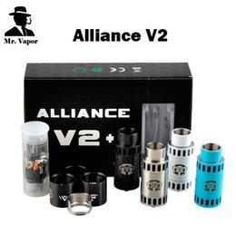 Wholesale Alliance V2 RDA Clone Rebuidable Dripping Atomizer Square Center Post Root Square Insulator Drip Tip with Delrin Adapter Replica Product