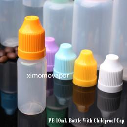 wholesale E Liquid bottles PE E-Juice Needle Tips Plastic Dropper Bottle 10ml Child Proof Caps Empty E-Liquid 10 ml Oil Bottles