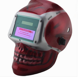 Wholesale Welding Helmet Mask Solar Auto Darkening Welding Helmet Arc Tig Mig Mask Weld Welder Lens Grinding Mask Red apes welding mask