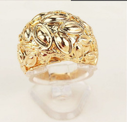 Classic 18K Gold Filled ring vintage wedding rings for men women jewelry wholesale