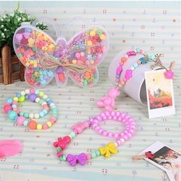 Wholesale Woven Bracelet Beads Kids Creative Craft Box Boys Girls Children Friendship Beads Jewelry Making Kit Kids Creative Craft